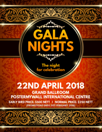 Gala Nights Poster Template
