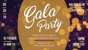 Gala Party Facebook Cover Video