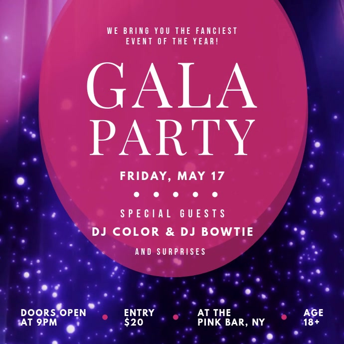 Gala Party Instagram Video