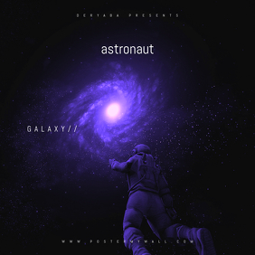 galaxy astronaut space CD Cover Template Albumcover