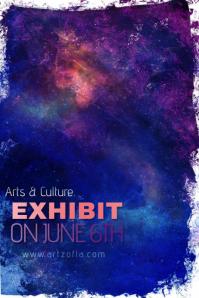 Galaxy Colorful Paint Simple Modern Event Club Venue Art