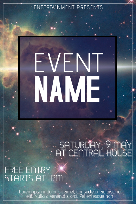 Galaxy Event Flyer Template  Postermywall