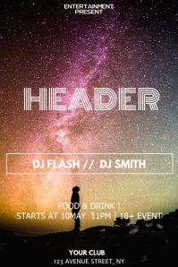 Galaxy header night flyer template