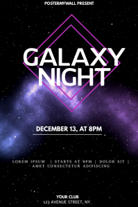 Galaxy Music event party flyer template