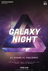 Galaxy Night Club Party Flyer Template