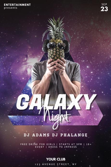 Galaxy Night Club Party Flyer Template