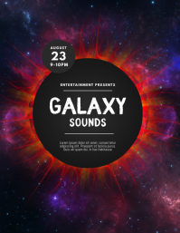 Galaxy Party Event Flyer template