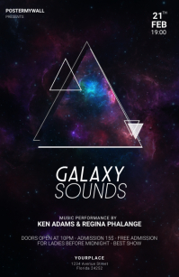 Galaxy Party Flyer Template