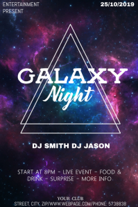 Galaxy Party night event flyer template