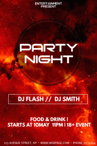 Galaxy party night flyer template