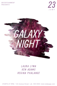 Customizable Design Templates for Galaxy Flyer Template | PosterMyWall