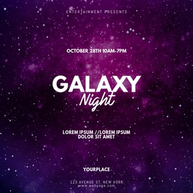 Galaxy Party Video Promotion ad Instagram