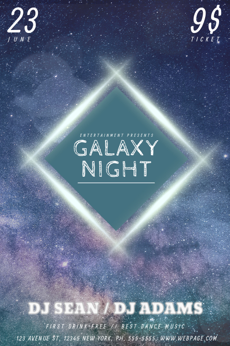 Galaxy flyer template