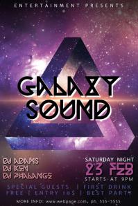 Galaxy Sound Flyer Template