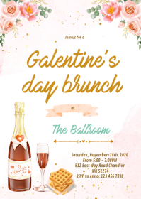 Galentine's Day Party Invitations A6 template