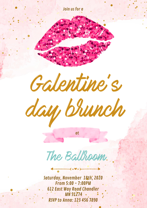 Galentine S Day Party Invitations Template Postermywall