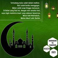 Gambar Ucapan Idul Fitri 2021 Publicação no Instagram template
