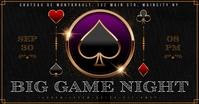 GAMBLING NIGHT BANNER Facebook Gedeelde Prent template