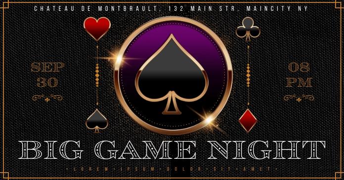 GAMBLING NIGHT BANNER Изображение, которым поделились на Facebook template