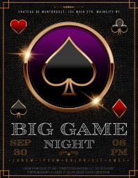 GAMBLING NIGHT FLYER Folheto (US Letter) template