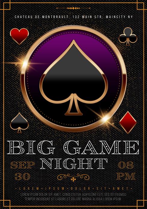 GAMBLING NIGHT POSTER A4 template