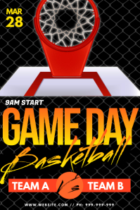Game Day Basketball Poster template