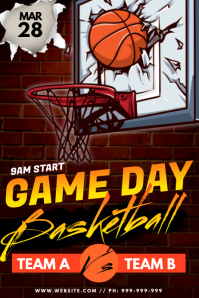 Game Day Basketball Poster Plakkaat template