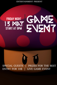 Game event flyer template