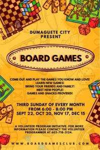 Game Night and Tambola Poster