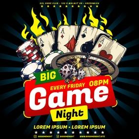 GAME NIGHT BANNER โพสต์บน Instagram template