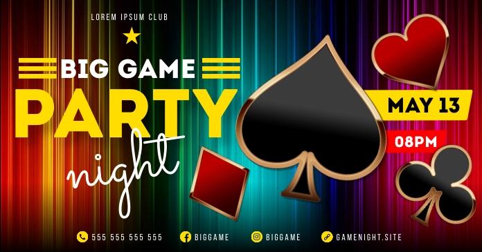 GAME NIGHT BANNER Ibinahaging Larawan sa Facebook template