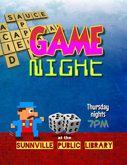 Game Night Board Games Event Flyer Template Postermywall