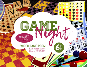5 490 Customizable Design Templates For Game Night Postermywall
