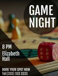 Game night flyer Iflaya (Incwadi ye-US) template