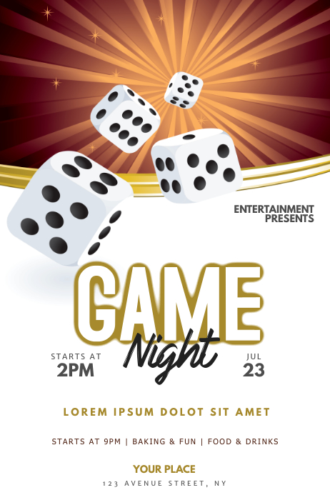 Game Night Flyer Template Poster