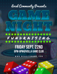 Game Night Fundraising Flyer
