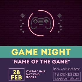 Game night neon sign video