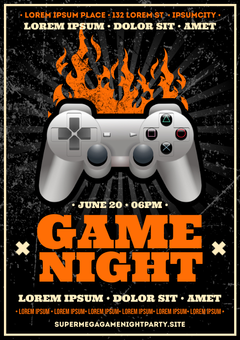 GAME NIGHT POSTER A4 template