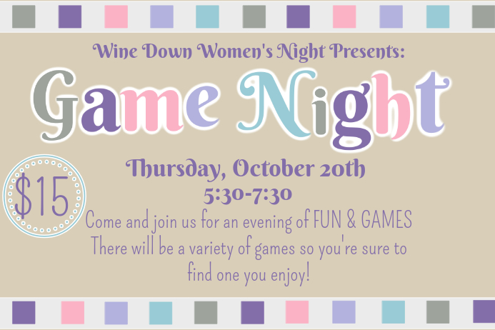 game night flyer customize template