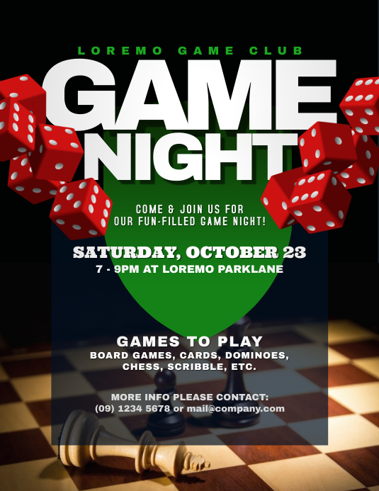 game night flyer templates postermywall