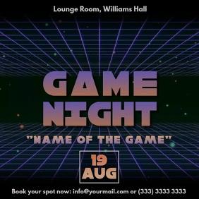 Game night vaporwave 80s retro video ad