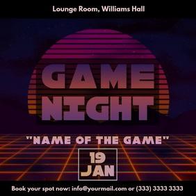 Game night vaporwave video ad