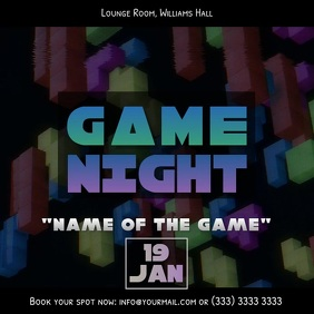 Game night video ad