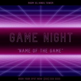 Game night video square Kwadrat (1:1) template