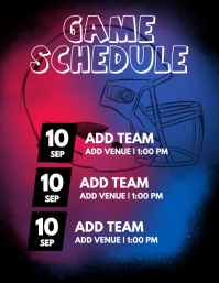 Game Schedule Flyer