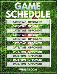 soccer game schedule template
