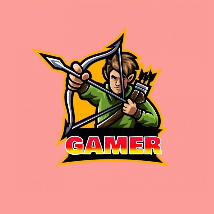 gamer logo Logotyp template