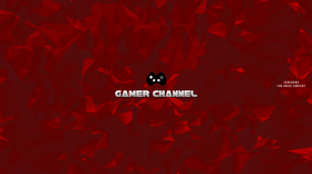 Gamer Red Youtube Channel Art Banner