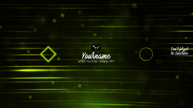 Gamer Youtube Channel Art Banner Template