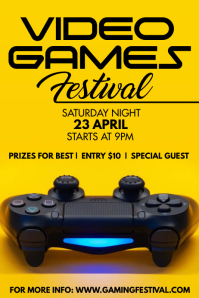 GAMES FESTIVAL Poster template